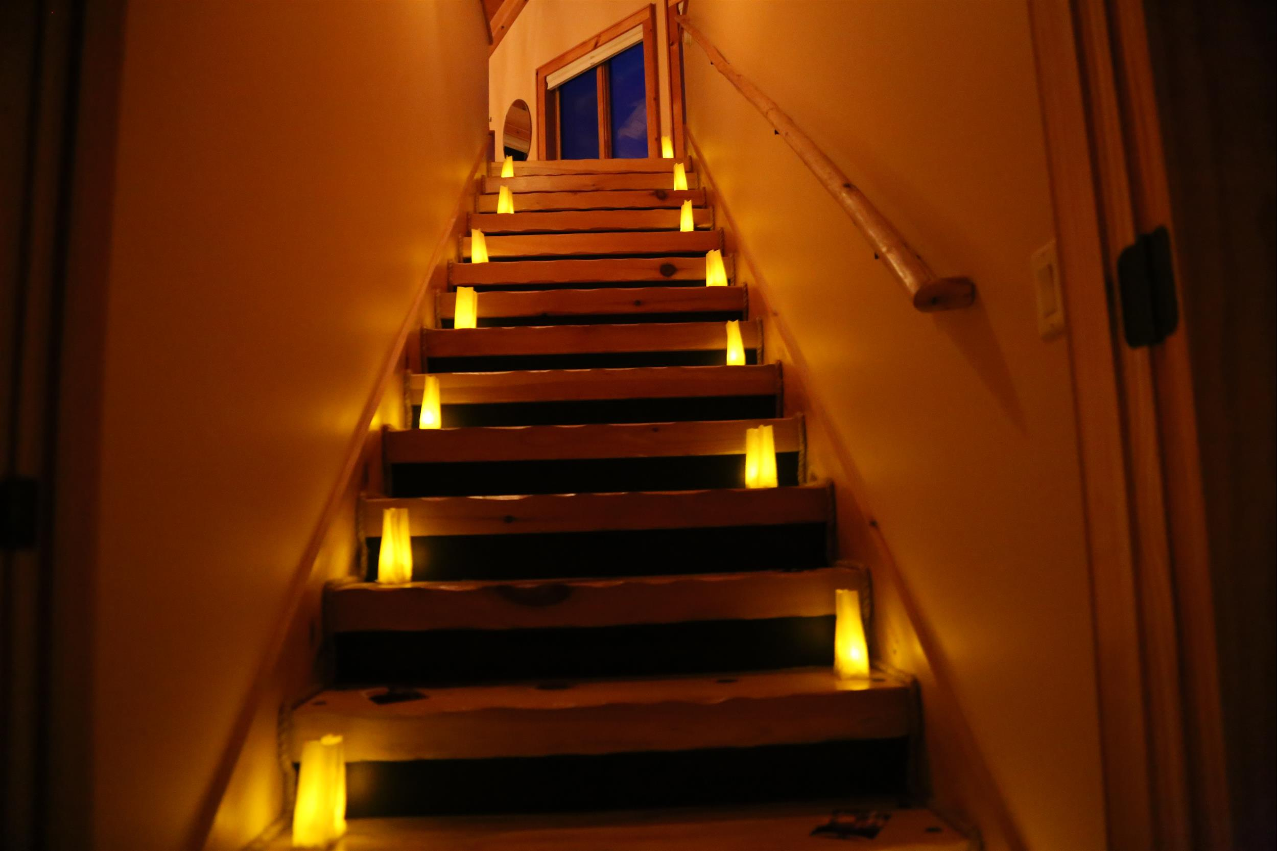 stairs with luminaries